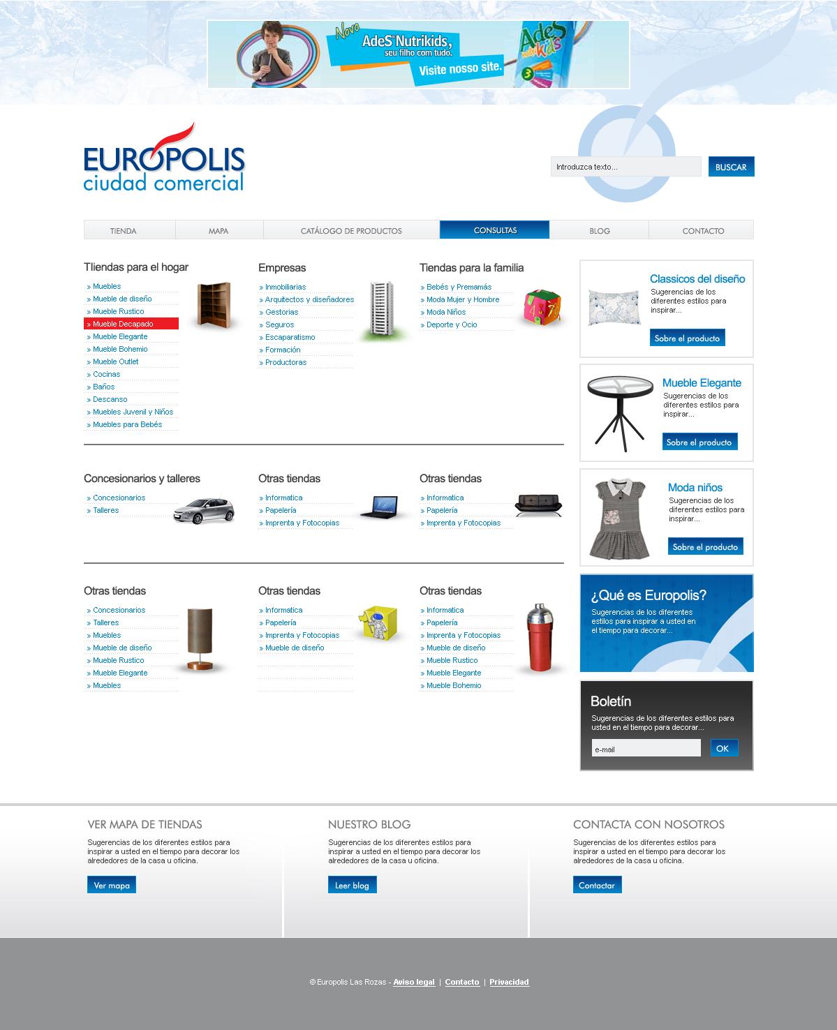 Desarrollo web e commerce eur polis las rozas - Europolis las rozas directorio ...
