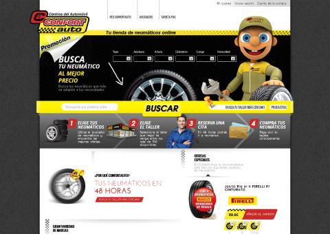 Desarrollo de portal de comercio electrónico de Neumáticos Soledad